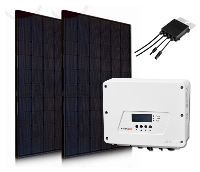 6x LG NeON-2 All Black 22500wp met Solaredge Wave omvormer