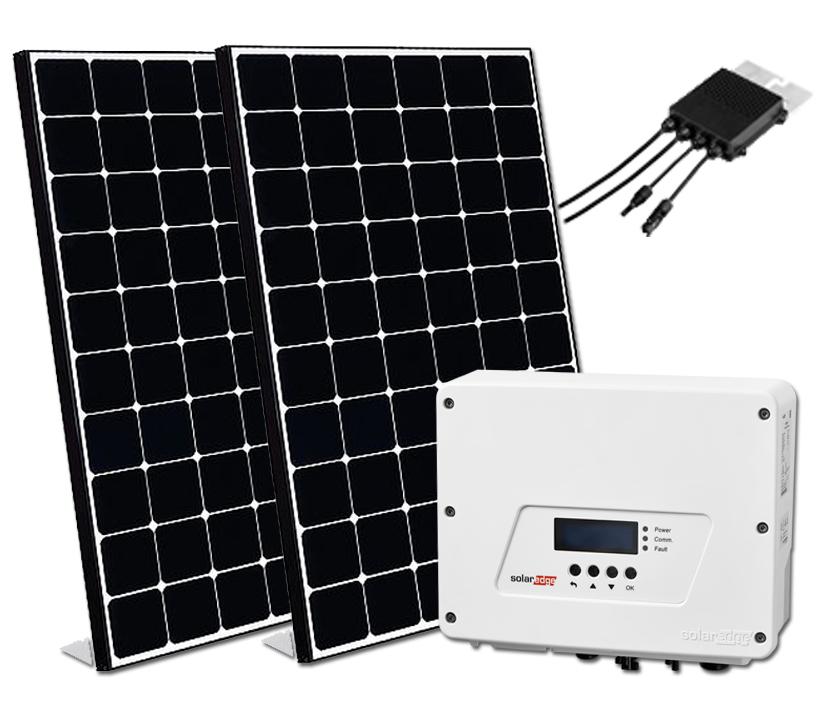 6x LG NeON-R 2370wp met Solaredge Wave omvormer