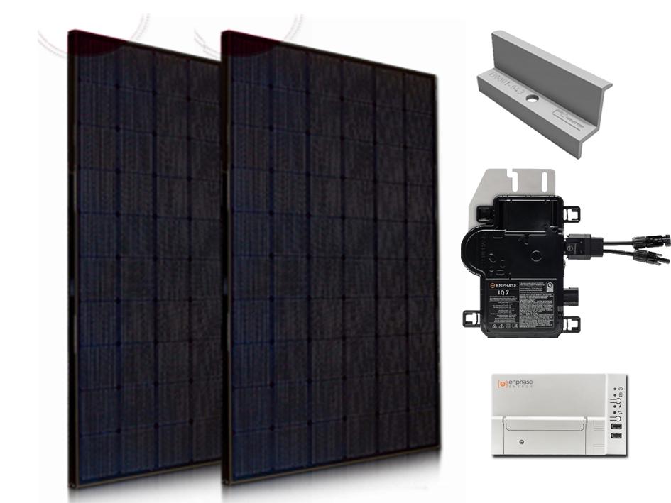4x LG NeON-2 All Black 1500wp met Enphase Micro-Omvormers